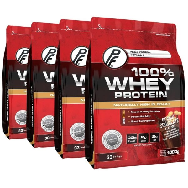 100% Whey Protein 4kg Peanut Chocoloate