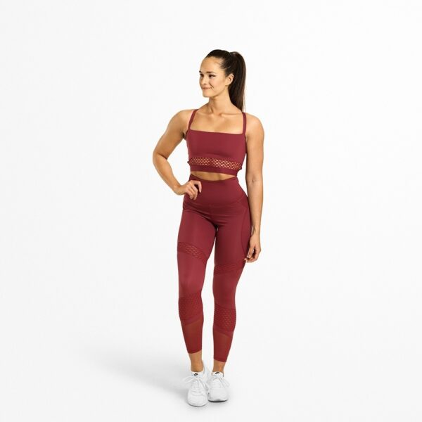 Better Bodies Woman Better Bodies - Waverly Mesh Tights - Sangria Red*