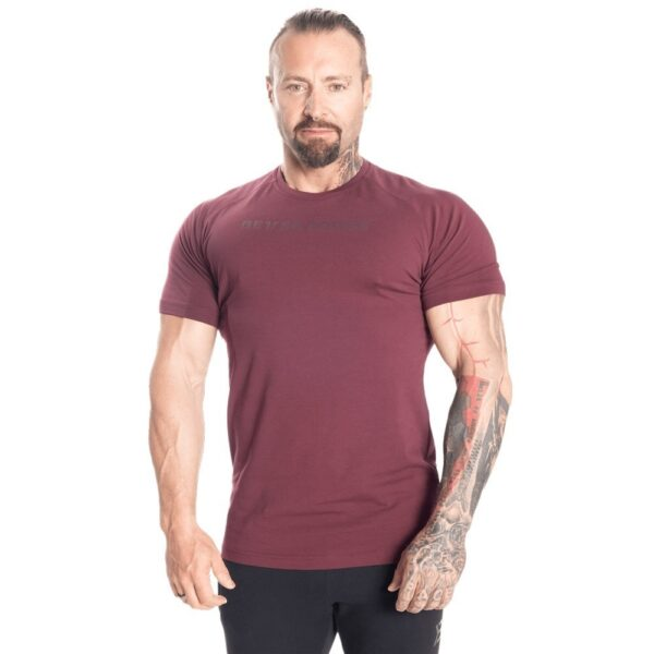 Better Bodies Man Better Bodies - Gym Tapered tee - Maroon